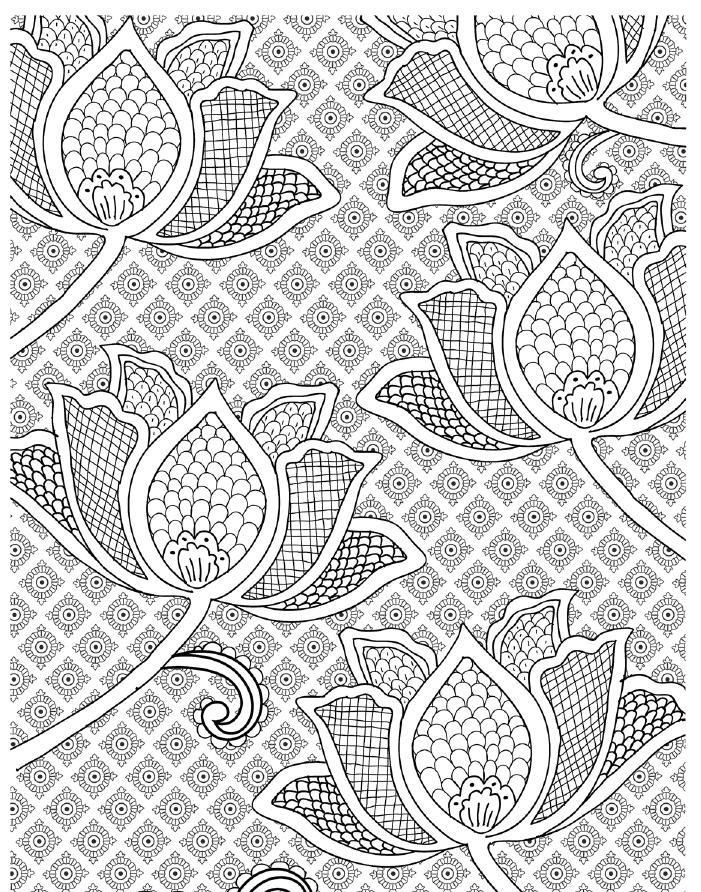 Art Therapy 100 Designs For Colouring In And Relaxation Introductory Sampler Clippedonissuu Pattern Coloring Pages Zentangle Patterns Coloring Book Pages