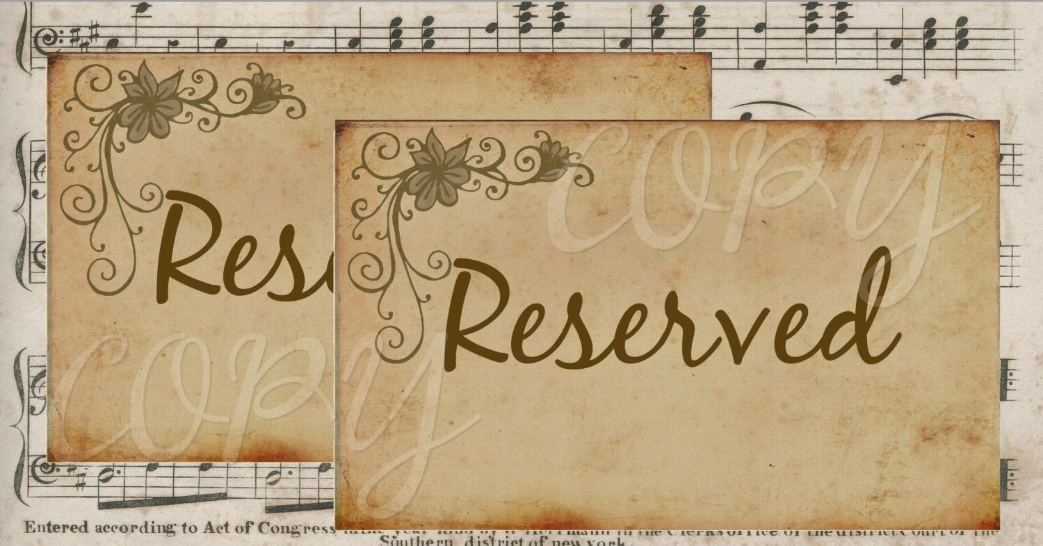 Printable Wedding  Signs  - Bride Groom and Reserved Signage - 4 x 6 inches -  Printable Digital Collage Sheet - Digital Download - pinned by pin4etsy.com