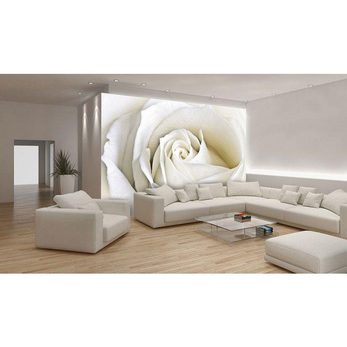 Poster mural xxl rose blanche poster mural parement Decor papier peint mural