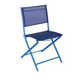 Chaise De Jardin En Metal Saba Bleue Chaise Jardin Metal