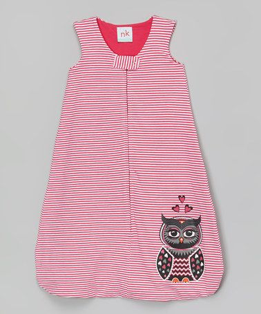Another great find on #zulily! Pink Stripe Owl Sleeping Sack - Infant #zulilyfinds