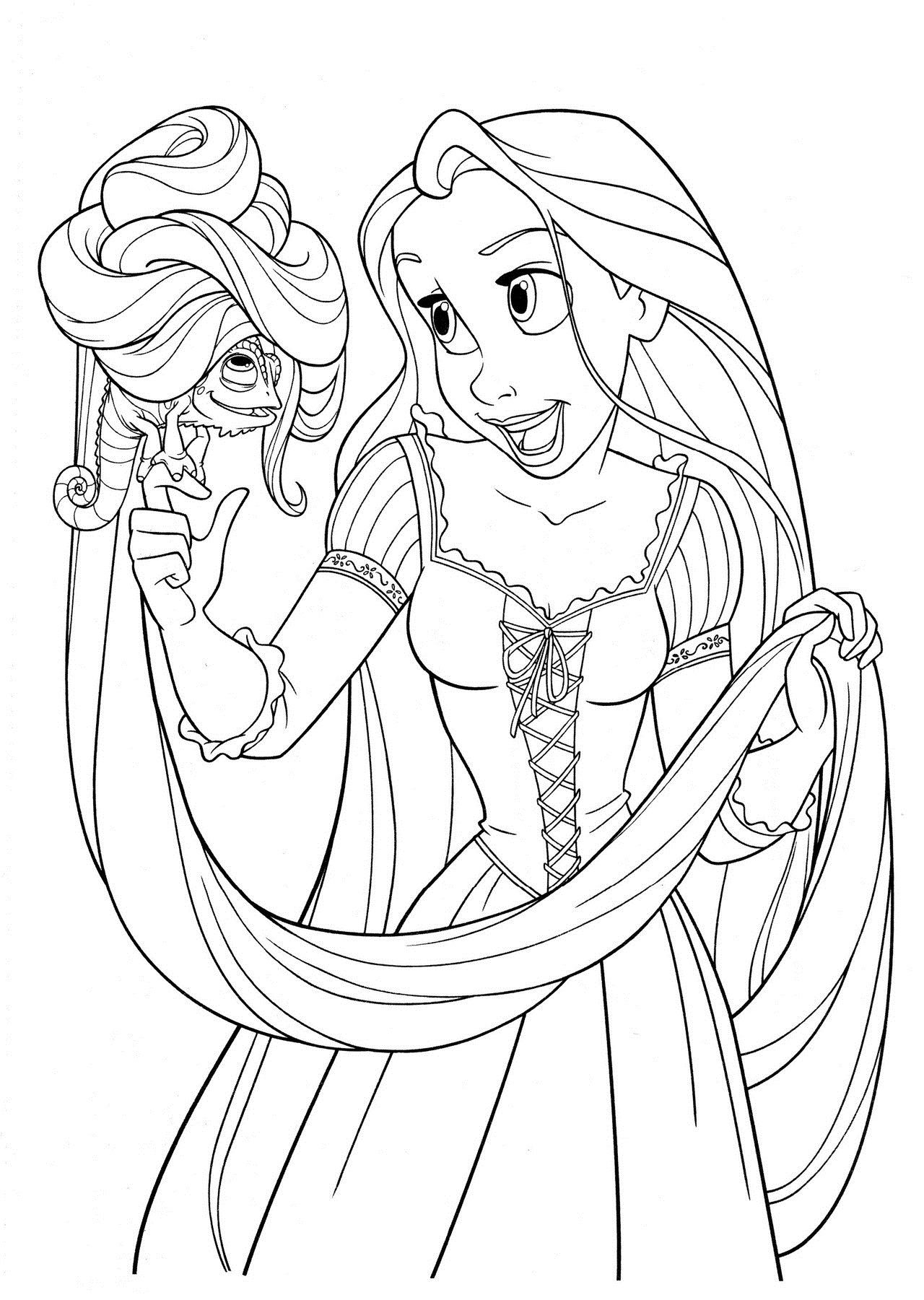 Printable coloring pages tangled - Disney Tangled Coloring Pages Printable Free Printable Tangled Coloring Pages For Kids