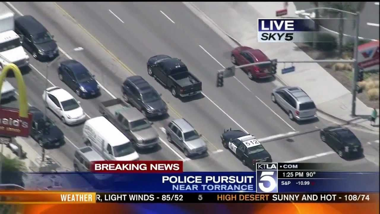 SoCal Police Chase And Attempted Suicide (KTLA) (+playlist)