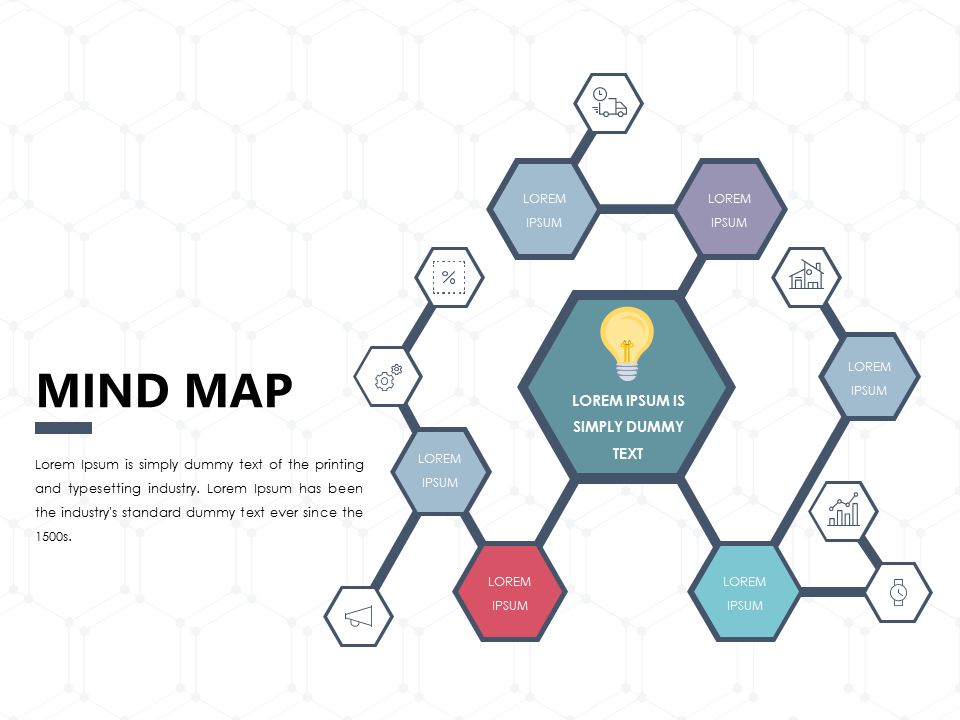 Mind Map PowerPoint Template Presentationdesign Slidedesign