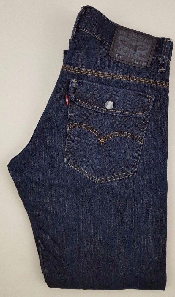 ef4c65eaf7f LEVIS Jeans 514 DARK Blue 32 30 MENS Cotton STRAIGHT Fit DENIM Jean SIZE Sz  MAN* #Levis #ClassicStraightLeg