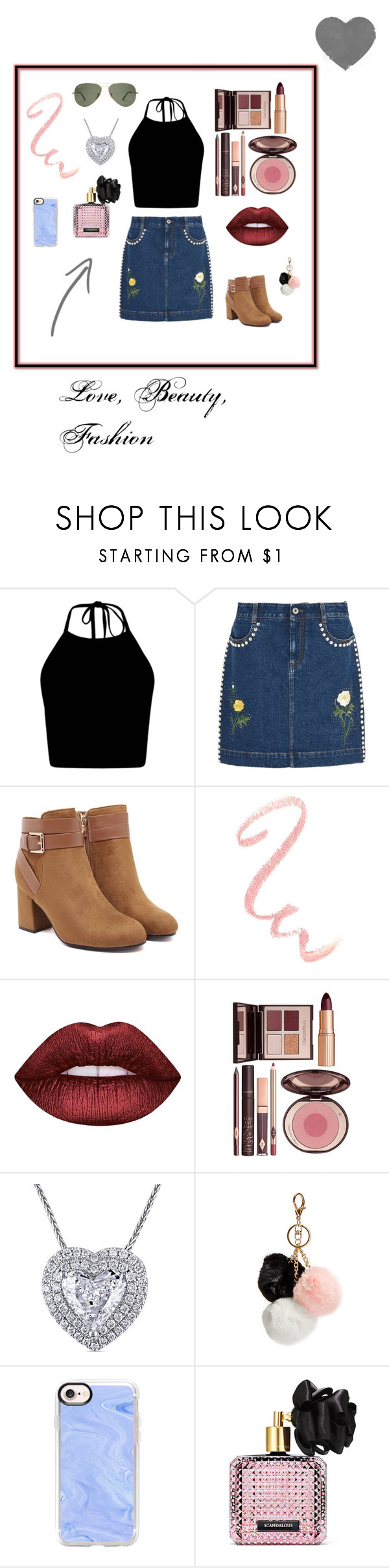 """""""❤️"""" by shoppin4ever ❤ liked on Polyvore featuring STELLA McCARTNEY, Lime Crime, Charlotte Tilbury, GUESS, Casetify and Victoria's Secret"""