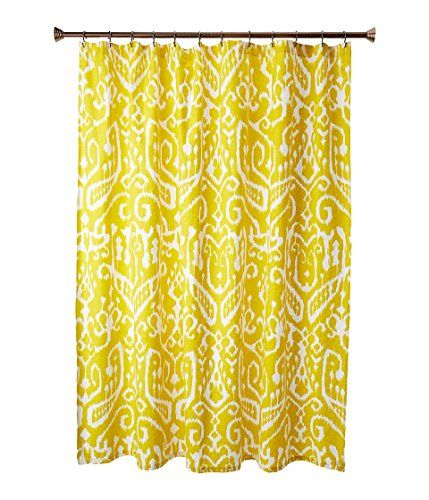 Trina Turk Ikat Yellow Shower Curtain