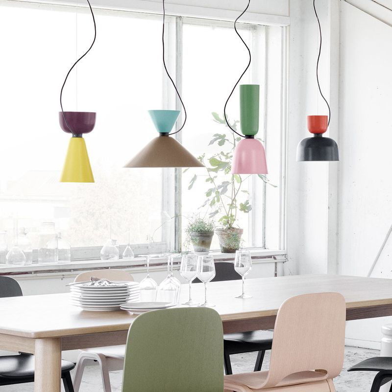 Scandinavian Style 1 Light Pendant For Kitchen Island Dining Table And Resaurant Pendants Colorful Pendant Light Geometric Pendant Light Modern Pendant Light