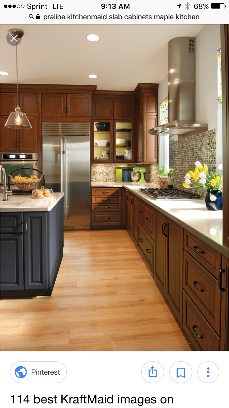2 Colors Cherry Wood Kitchen Cabinets Cherry Cabinets Kitchen Kitchen Design