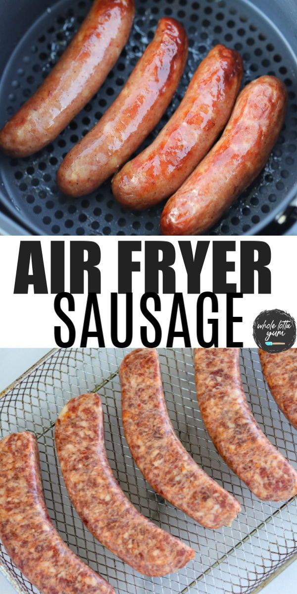 The BEST Air Fryer Italian Sausage Recipe in 2020 Air