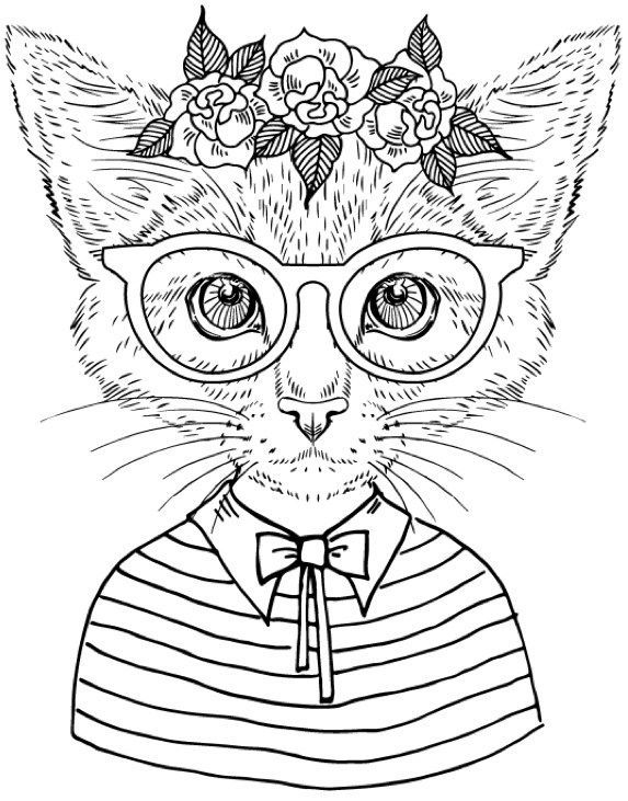 Best Coloring Books for Cat Lovers Coloring books Adult
