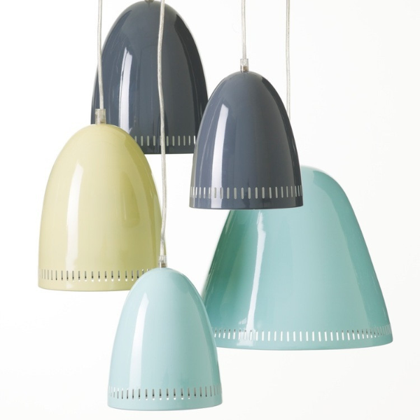 Super Living Dynamo Pendant Light In Blue Grey And Yellow