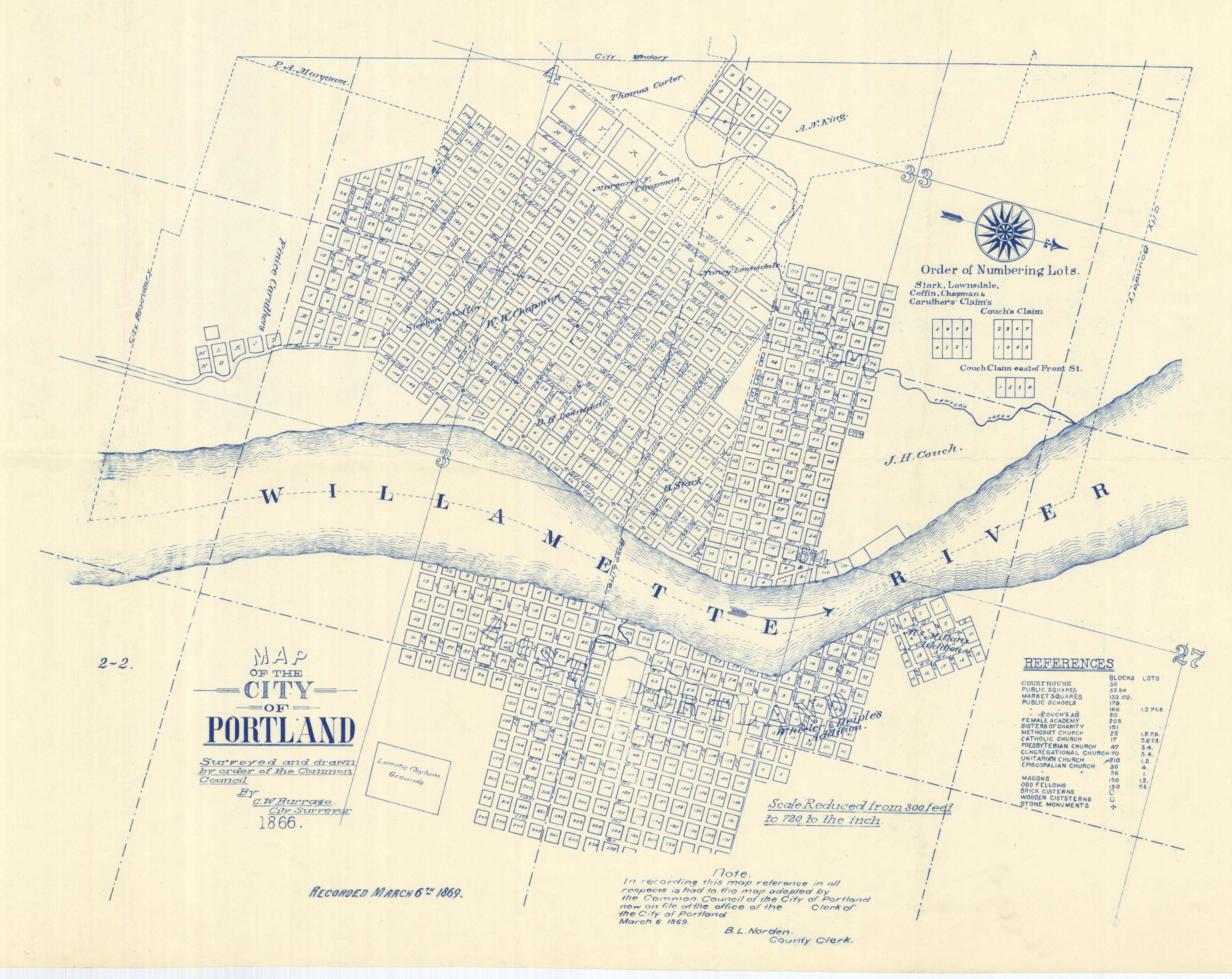 Map Of The City Of Portland Portland And City Maps - Map of oregon with cities