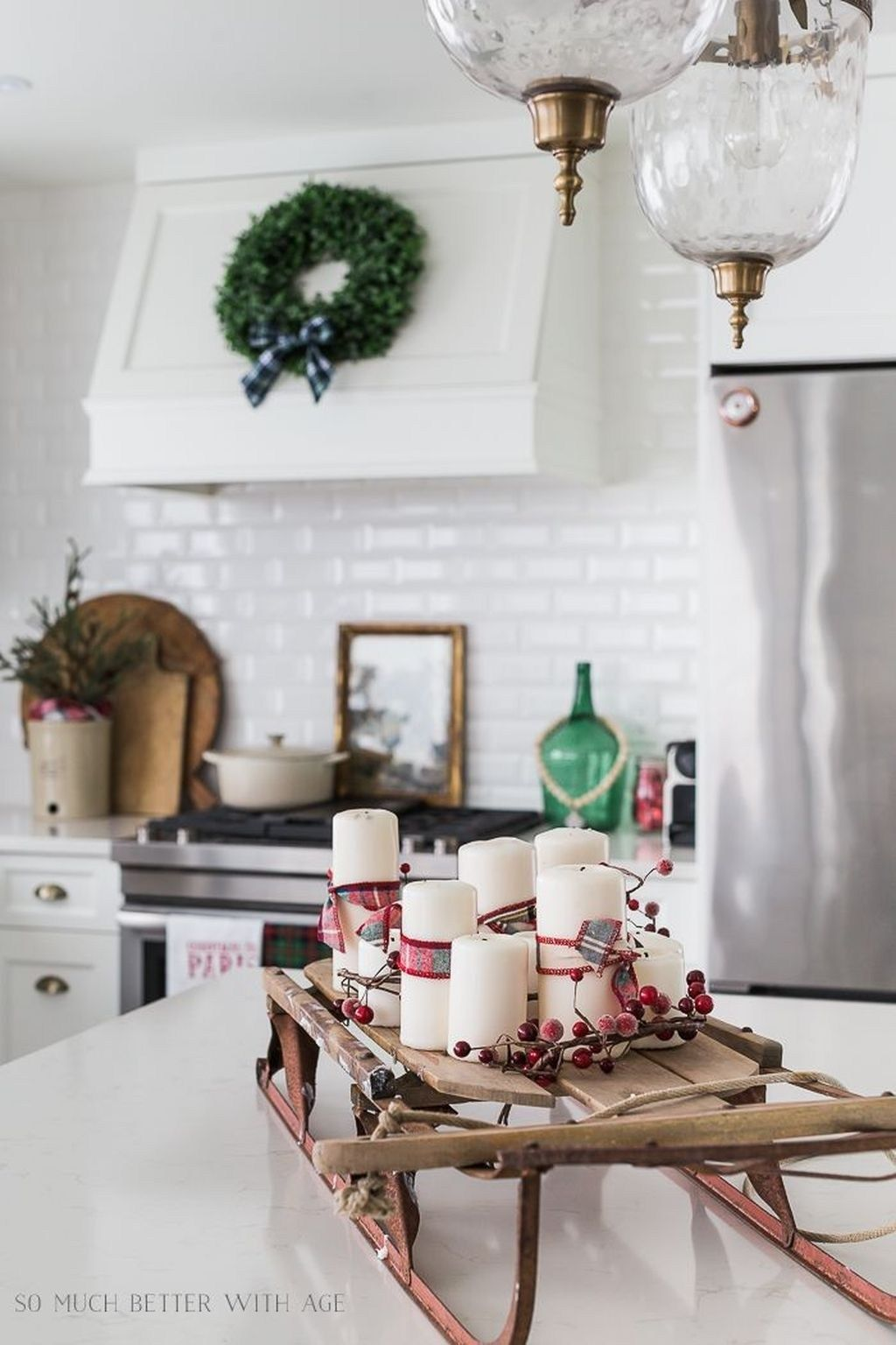 Comfy Rustic Winter Kitchen Ideas After Christmas30 Decor Plaid Christmas Decor Kitchen Decor