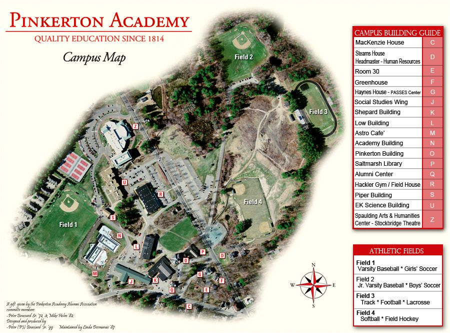 St Anselm Campus Map.On Campus Directions Pinkerton Academy New Hampshire Pinterest