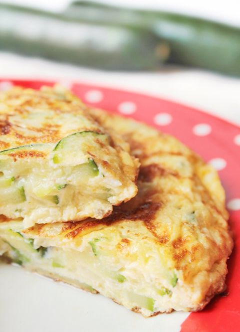 Tortilla de calabacín. Zucchini omelette