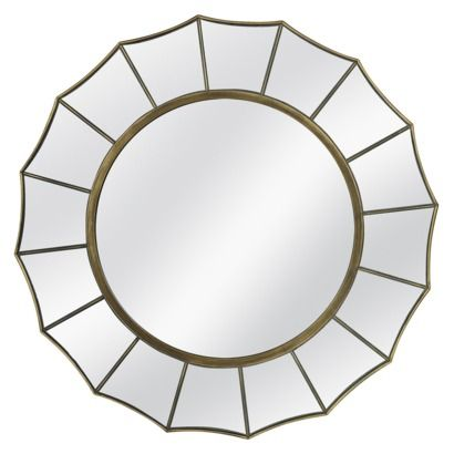 Threshold Starburst Mirror I Like A This For Your Foyer Maybe Little Ger One Is 24x24 They Have Many Diffe Choices Of These