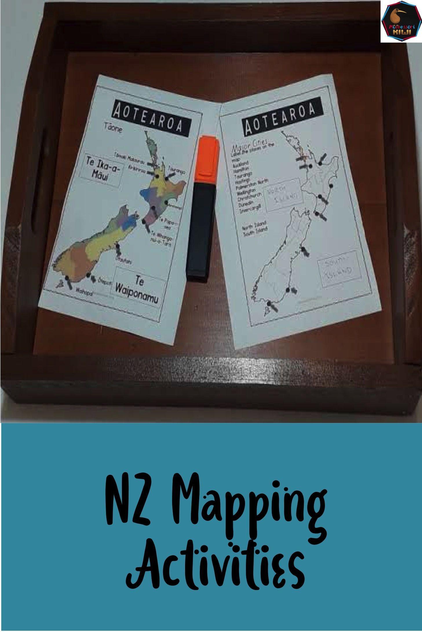 Nz Mapping Activities Map Activities Activities Teaching