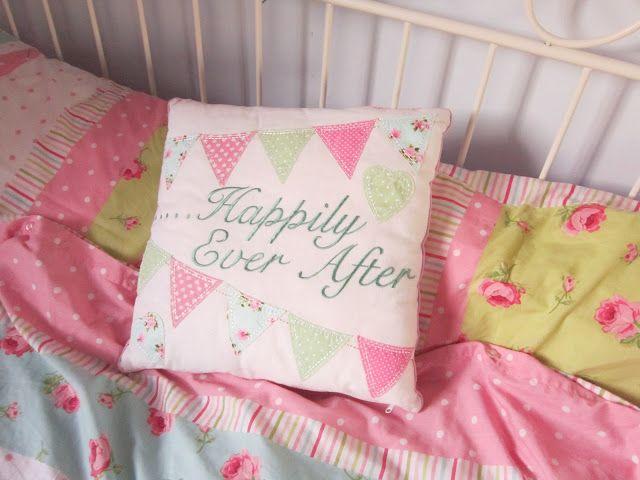 Cute bunting cushion ♥
