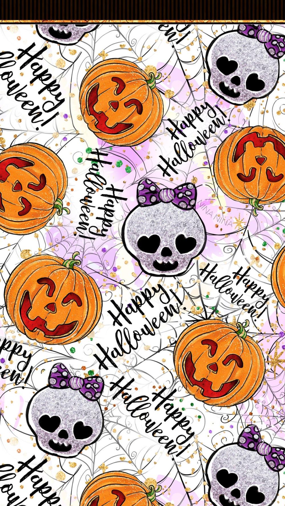 Freebie Cute Halloween Digital Paper Pack Halloween Etsy In 2020 Halloween Digital Halloween Wallpaper Iphone Happy Planner Printable Stickers