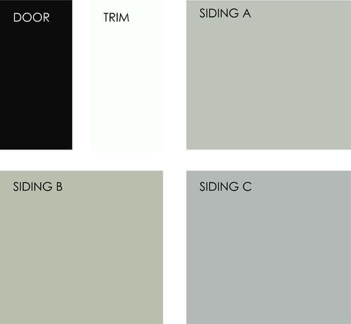 Benjamin Moore Aganthus Green: A Black Door And White Or Light-colored Trim Look