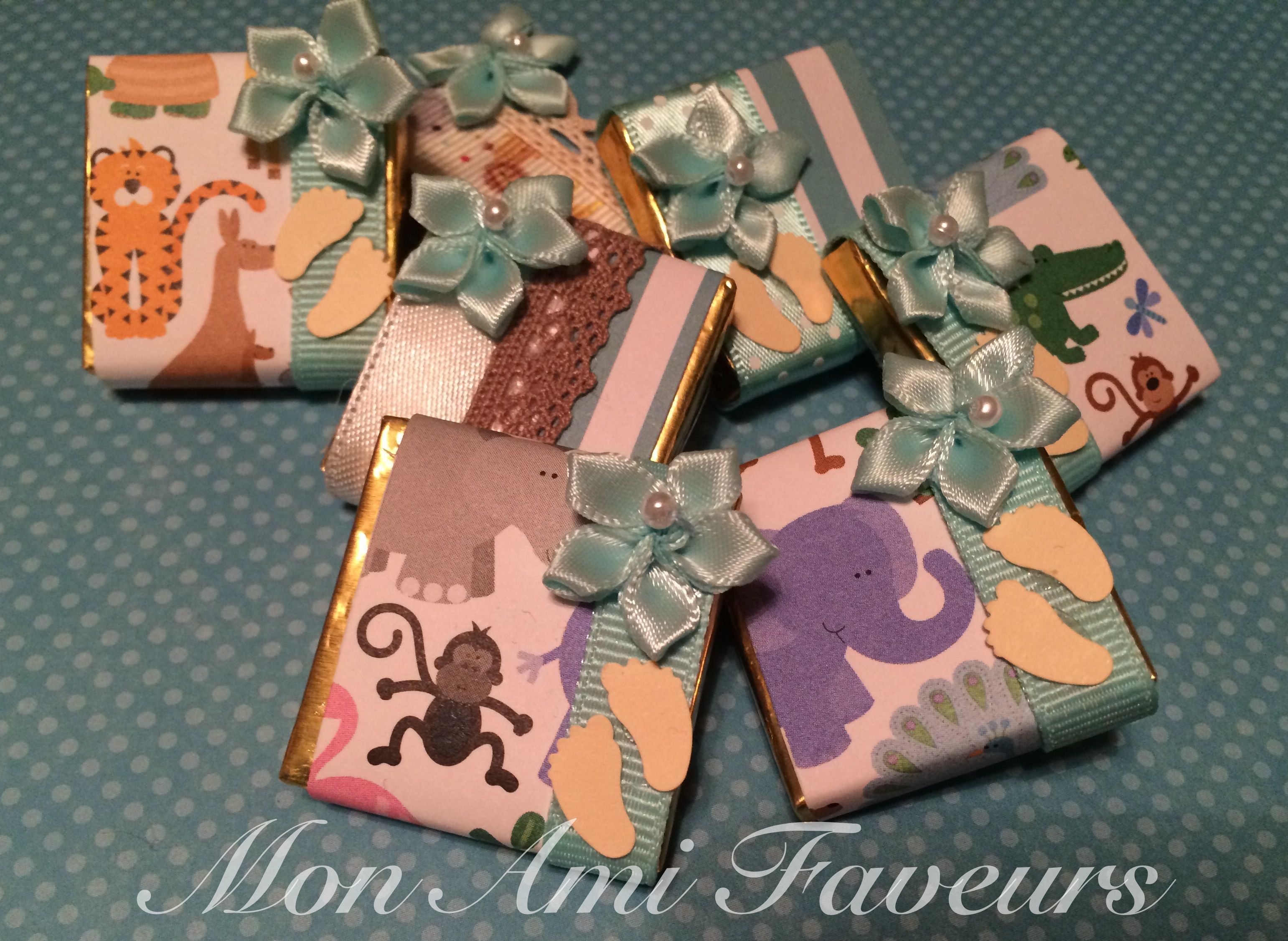 Safari Themed Baby Shower Favors Wrapped Chocolate Mint Truffles