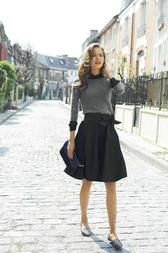 Vintage gray and black outfit