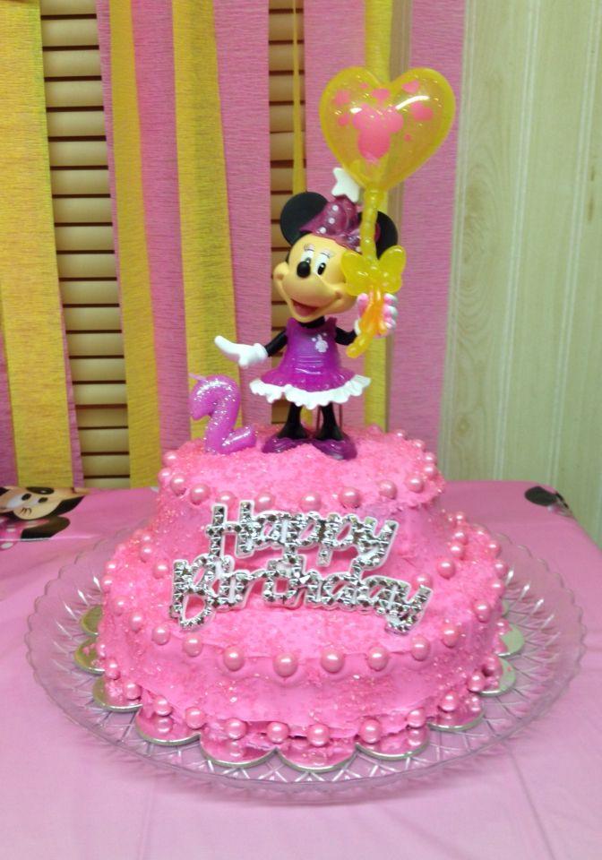 Phenomenal Diy Minnie Mouse Birthday Cake Toy Cake Topper Cheap With Images Funny Birthday Cards Online Elaedamsfinfo