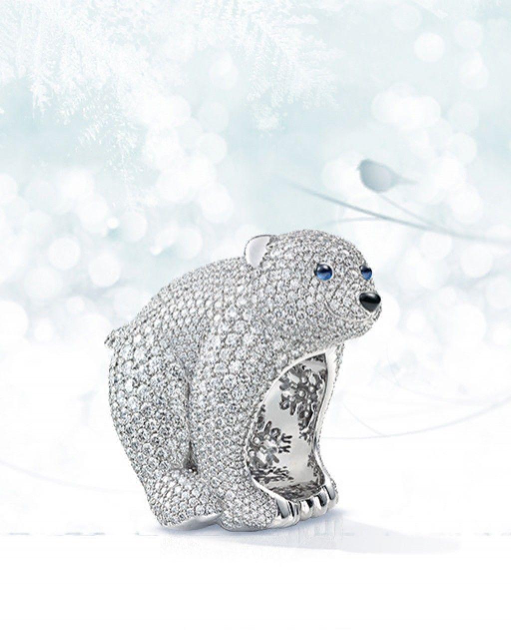 Chopard Animal World Collection Bear Polar Bear Chopard [ 1262 x 1024 Pixel ]