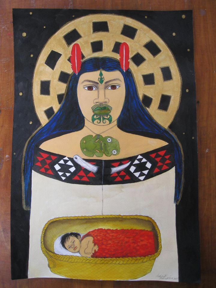 Image result for Robyn Kahukiwa wahakura painting