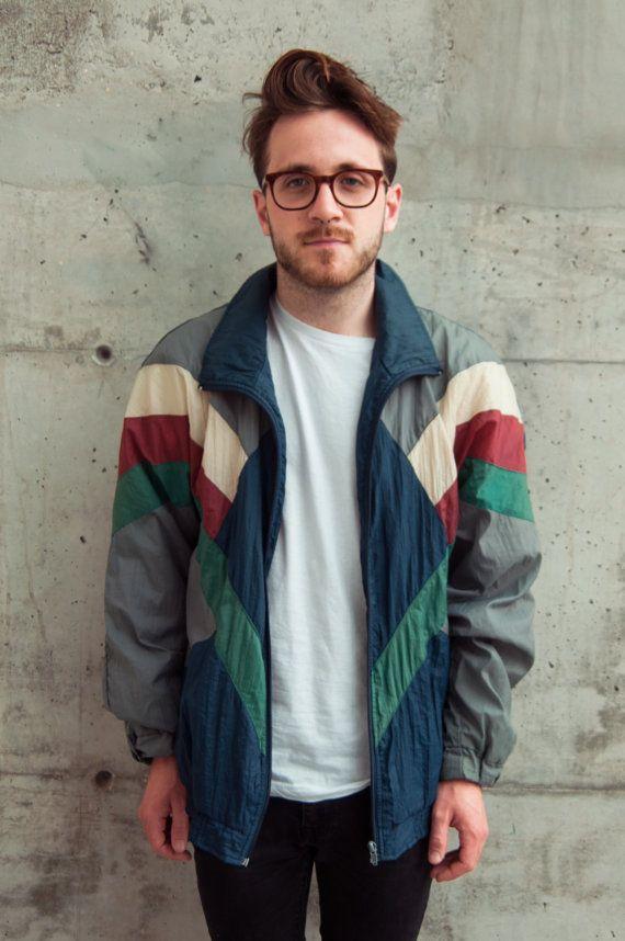 90s Windbreaker Outfit Google Search Wear Roupas Para Homens