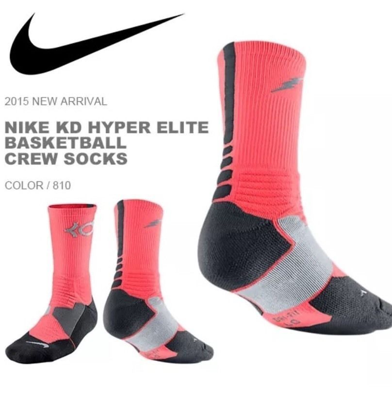 free delivery many styles many styles Nike KD Kevin Durant Hyper Elite Crew Socks Hot Pink SX4814 ...