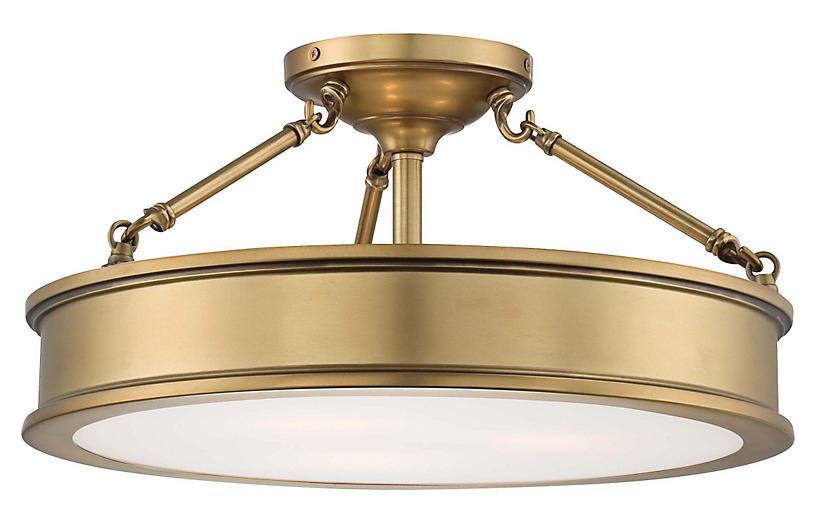 Daria 3 Light Semi Flush Mount Gold Minka Lavery Semi Flush Lighting Semi Flush Mount Lighting Gold Ceiling Light