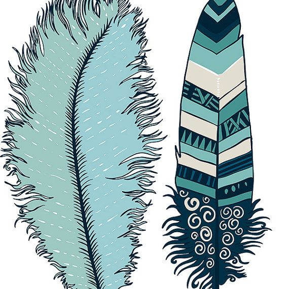 navy blue feather clip art indian summer digital illustration rh pinterest com