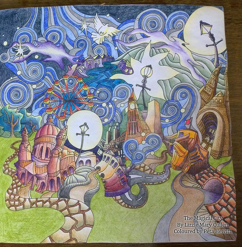 London La Artistino Peta Hewitt Coloring Lizzie M Cullen
