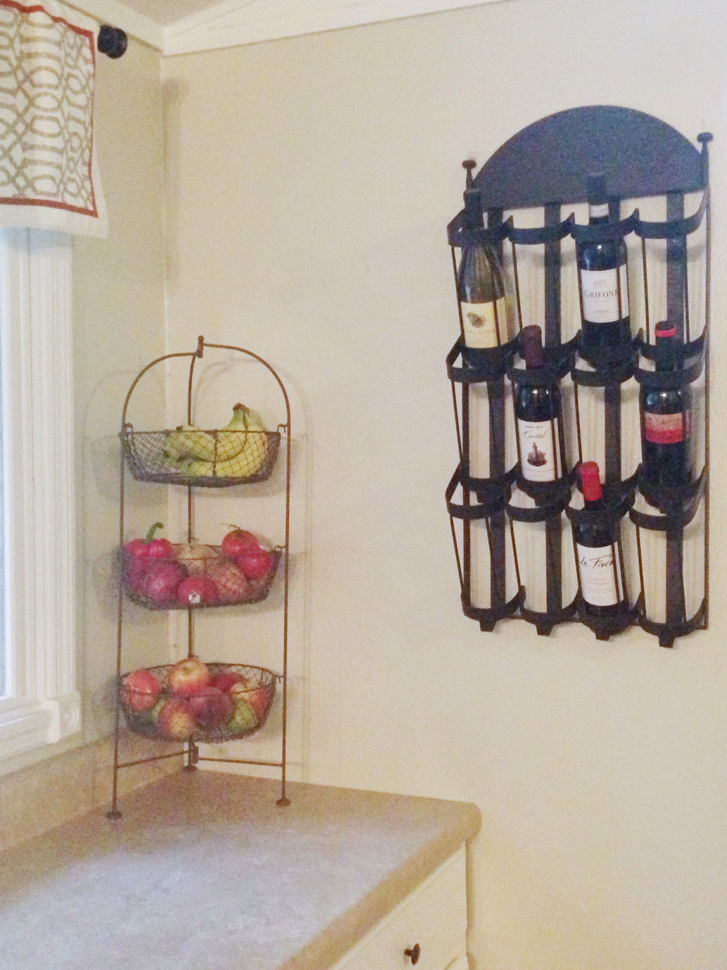 Kitchen corner wine rack from pottery barn herron home decor
