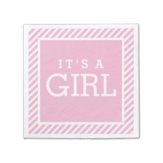 It's a Girl Napkins   Light Pink Paper Napkin