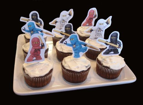 Our Homemade Happiness Ninjago Birthday Party Ideas With Printables Cupcake Toppers
