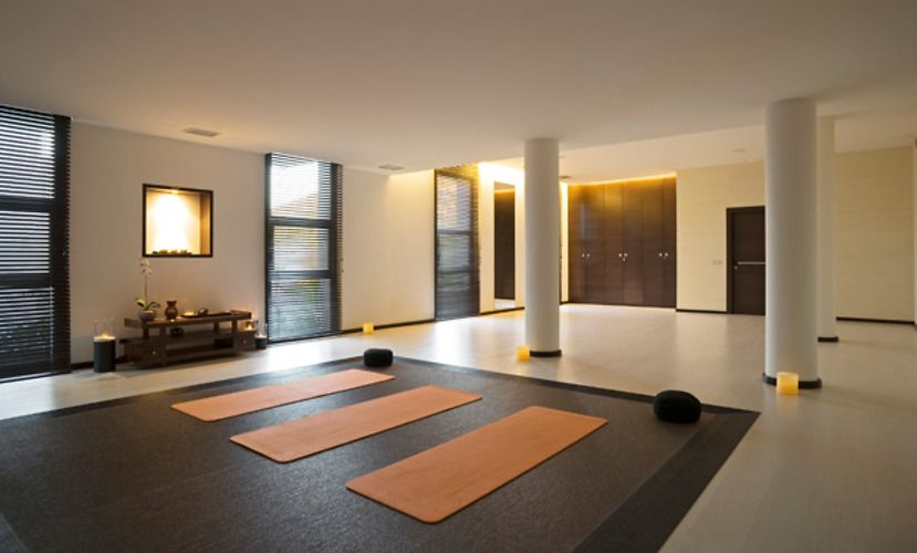Home Yoga Room Design 14 home yoga studio design photos with carpet and beige walls Yoga Room At Home Google Search Yoga Studio Pinterest Home Yoga Studios Studio Decorating And Home