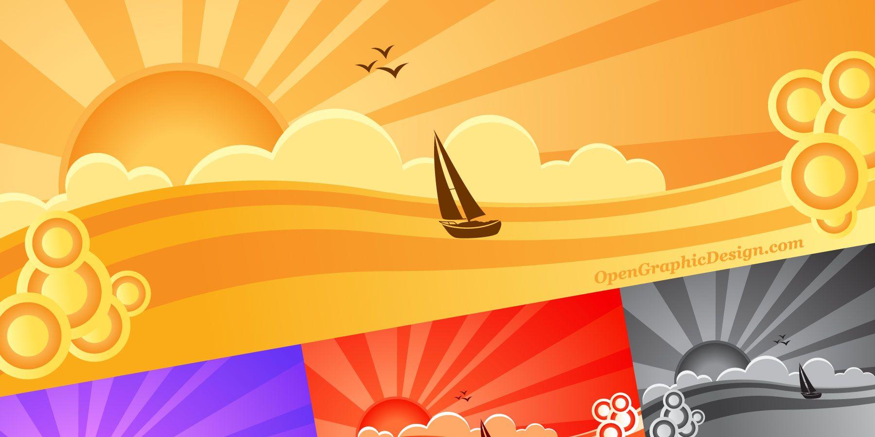 Summer beach scene vector stock vector colourbox - Free Vector Snowflakes Download Winter Snow Flakes Clip Art
