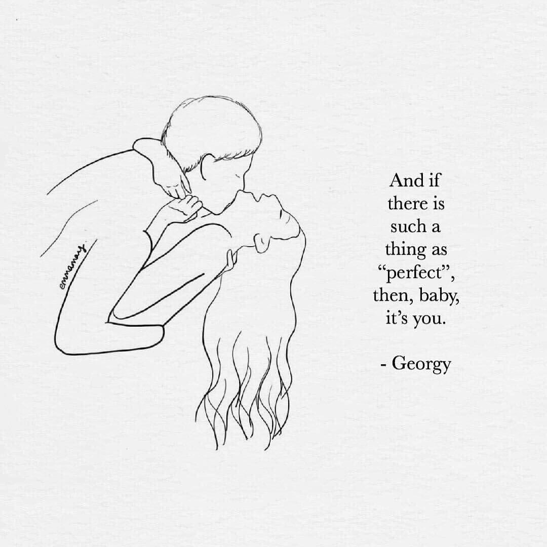 """Photo of Georgy B. auf Instagram: """"Für mich bist du perfekt! . . . @simplygeorgy, dort stehen die Anführungszeichen 👀🙊. . Wunderbare Kunst von @emmamayart. . . . . . . #perfekt…"""""""
