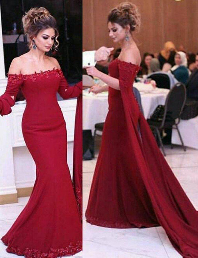Fitted Prom Dress, Fabulous Strapless Mermaid Red Prom Dress with