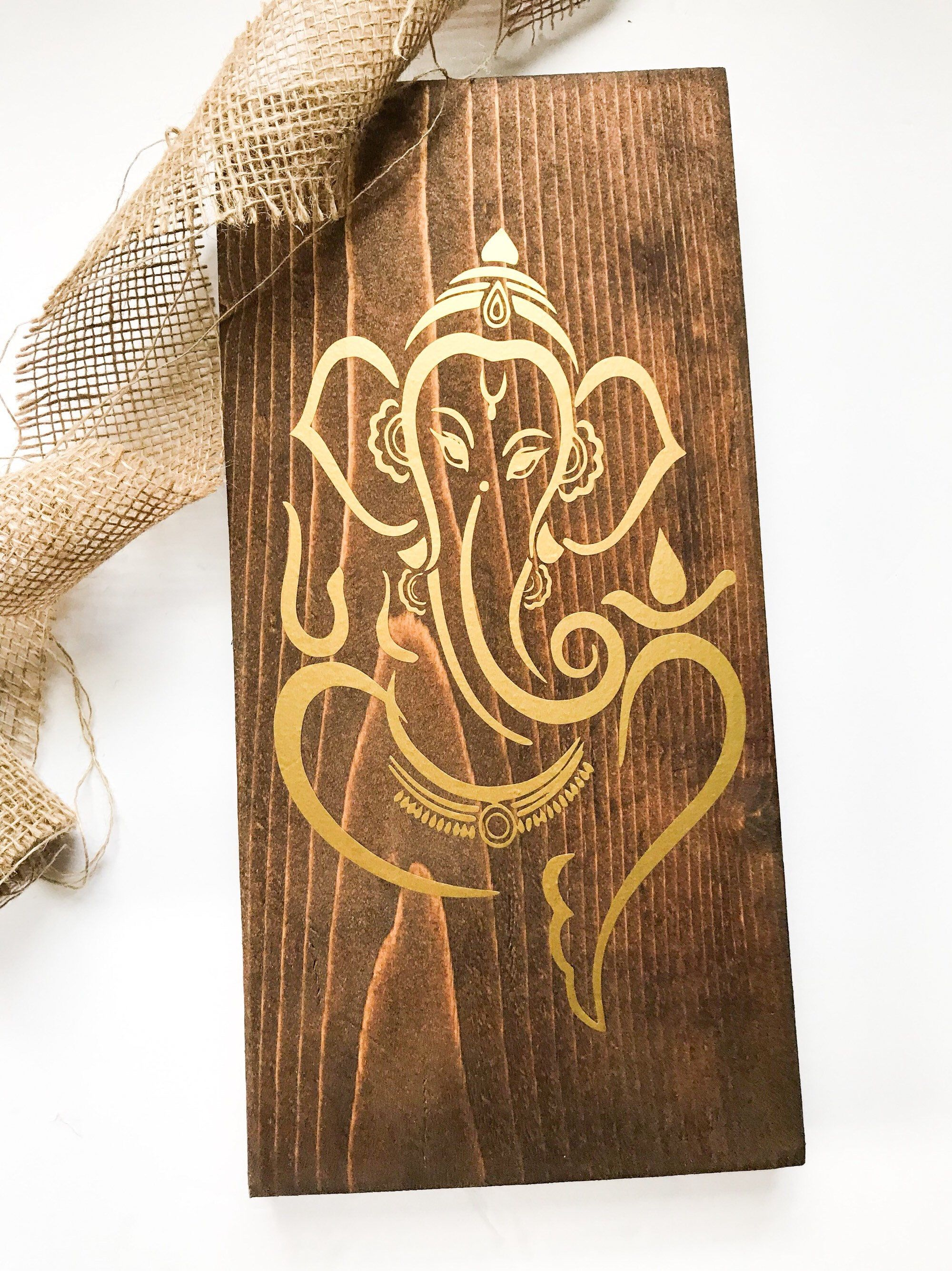 Ganesha ganesh lord ganesha wooden wall art elephant god zen wedding