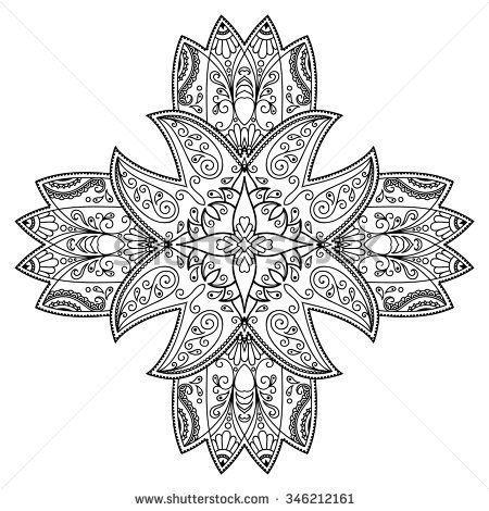 Vector henna tattoo mandala. Mehndi style. | carmen | Pinterest ...