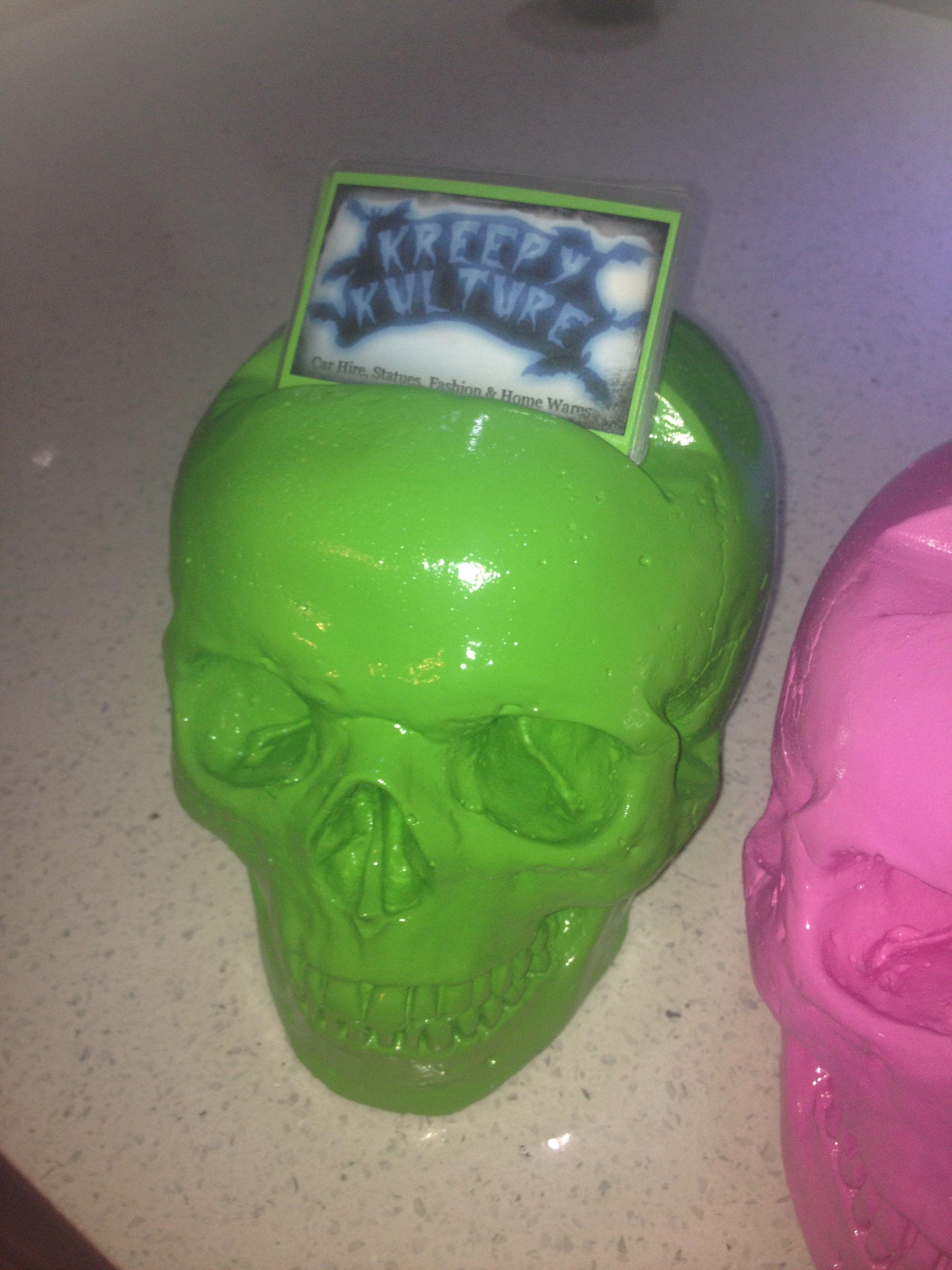 Hand made skull business card holder kreepy kulture home and hand made skull business card holder kreepy kulture magicingreecefo Choice Image