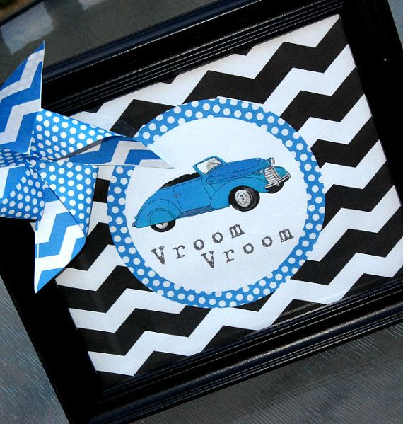 Vintage Car Birthday Car Baby Shower Car Birthday Decorations Car