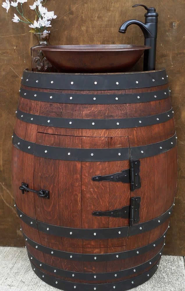 wood this barrel sink in your house http. Black Bedroom Furniture Sets. Home Design Ideas