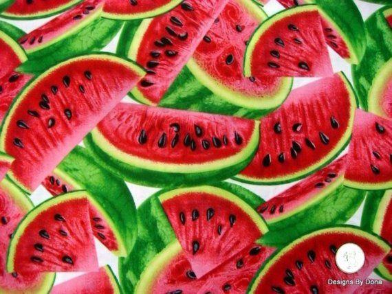 Fabric Watermelon Slices one half yard by DesignsByDona on Etsy