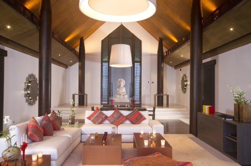 1 Wohnzimmer Säule Stil asiatischer   Fantastische Wohnzimmer Ideen ...
