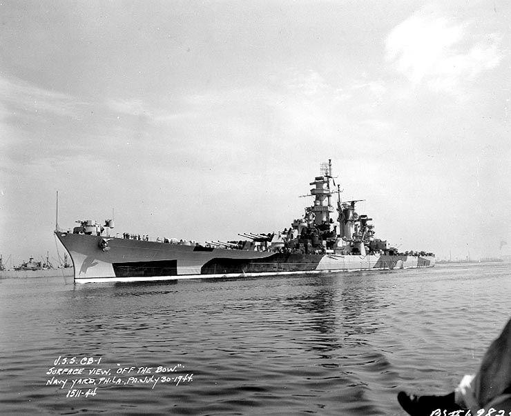 USS Alaska CB-1 - Incrociatore pesante classe Alaska - Entrata in servizio17 giugno 1944 Radiata17 febbraio 1947 Destino finale smantellata nel 1960. Caratteristiche generali Dislocamento29 779 Lunghezza 246,43 m Larghezza27,76 m Pescaggio8,3 m Propulsione8 caldaie Babcock & Wilcox, 2 gruppi turbine a vapore General Electric da 150 000 shp (112 MW) complessivi Velocità31,4 nodi Autonomia12 000 Equipaggiofino a 2 251
